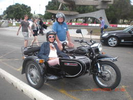 Photo of Lisbon Private Tour: Best of Lisbon by Sidecar Happy couple
