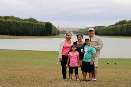 Our family in front of the Palace of Versailles. , Jen - August 2015