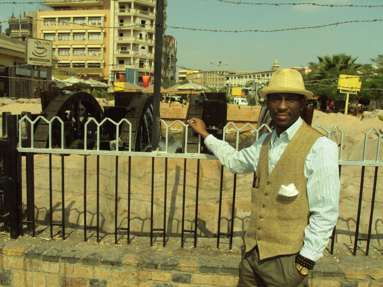 In front of the water wells - Cairo