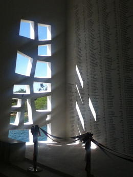 Stunning light and shadow on the engraved names of lost sailors. , Cheryl S - December 2014