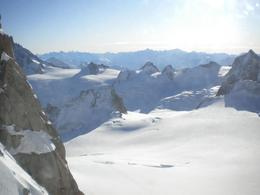 Views from the top of L'Aiguille du Midi are absolutely breathtaking; well worth the altitude sickness! Very cold (-20C)., Marie W - December 2009