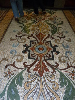 Decorative floor tiles of Block Arcade , Chris S - March 2013