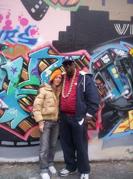 Me and Grand Master Caz who hosted the NYC Hip Hop tour. - November 2007