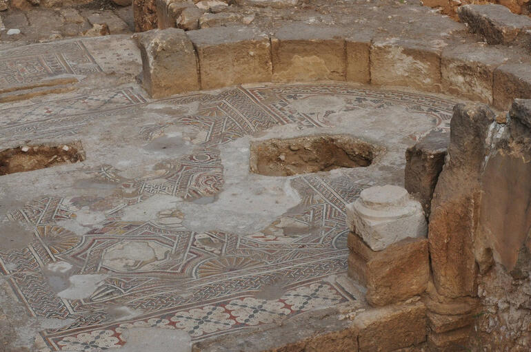 One of the mosaic floors - Jerusalem