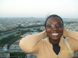 Carline Ch. at the top of the Eiffel tower. , CARLINE C - June 2011