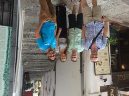 Emilio, our tour guide, far right, with our group , Chris B - July 2015