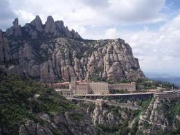 A photo of the stunning spires at the mountains behind and around the Monastery at Montserrat. , Randhir J - August 2014