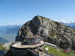 View from the top of Pilatus, showing the main buildings - September 2009