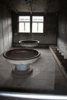 These are two of the tubs which were the only place to clean oneself were shared by so many prisoners., Stephanie G - April 2010