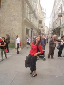 Our tour guide being herself in Salzburg. The BEST!!! , Robert D. P - July 2013