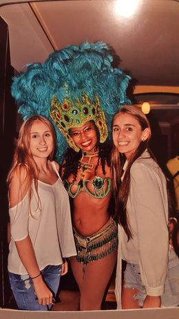 My big girls enjoying the Samba show at Plataforma in Rio de Janeiro , Andreas J - January 2016
