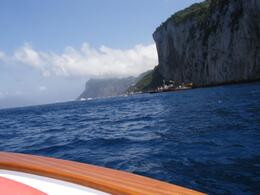 On a small boat on the way to the Blue Grotto. - June 2008