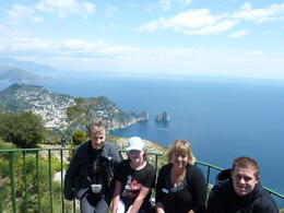 My lovely family with the Amalfi Coast in the background , Maria C - May 2011