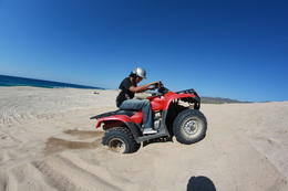 My friend might've gotten his ATV stuck for a while on the beach sands. It was fun. , pravin p - December 2012