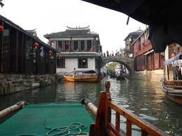 Photo of Shanghai Suzhou and Zhouzhuang Water Village Day Trip from Shanghai gondola ride...