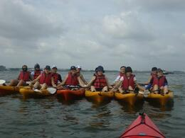 Photo of the group on board their kayaks - May 2012