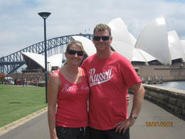 Shaye and Scott finishing our Sydney walking tour , Scott S - January 2011