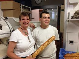 At Le Grenier au Pain in Montmartre with the baker , Ann G - August 2014