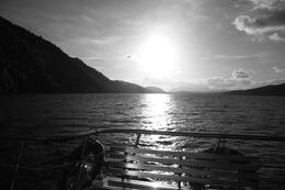 Loch Ness from the deck of our boat on a very windy day!!!, Jean-Claire F - November 2010