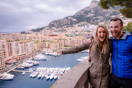 My fiancé and I enjoying the spectacular views over the harbour of Monaco , Thomas L - January 2016
