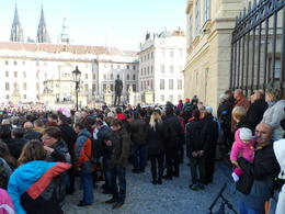 28th October is a National Day in the Czech Republic and the Prague Castle is bursting with people who've come to watch various ceremonies. , Robin F - November 2014