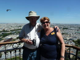 Perfect weather . A look at the City of Paris from on top of the Eiffel Tower. , Arlene C - July 2012