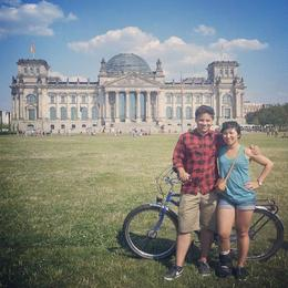 In front of Reichstag with my friend , Eileen N - August 2014