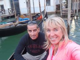 Our not so very comfortable ride in the Gondola down part of the Grand Canal. There was nothing 'romantic' about this ride! , Kgmac - September 2014