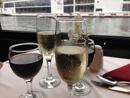 delightful welcome champers and red wine for lunch , aris victor a - October 2015