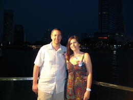 Photo of Bangkok Bangkok Dinner Cruise on the Chao Phraya River Waiting to board our cruise