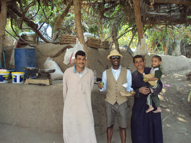 With locals of a small farm - Cairo