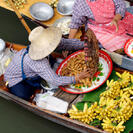 Photo of Bangkok Floating Markets of Damnoen Saduak Cruise Day Trip from Bangkok Woman Trading Food at Floating Market