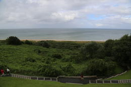 The trail to Omaha Beach from the bluff at the edge of the American Cemetery at Normandy. , John C - September 2012