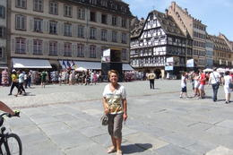 Anna at the Cathedral Square in Strasbourg, during Black Forest and Strasbourg Day Trip from Frankfurt. , Mario S - July 2014