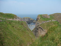 Photo of Dublin Northern Ireland including Giant's Causeway Rail Tour from Dublin Across the carrick-a-rede bridge