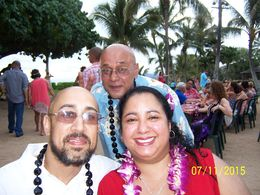 At the luau me and my family enjoying the day on my b-day. , Michelle M - July 2015