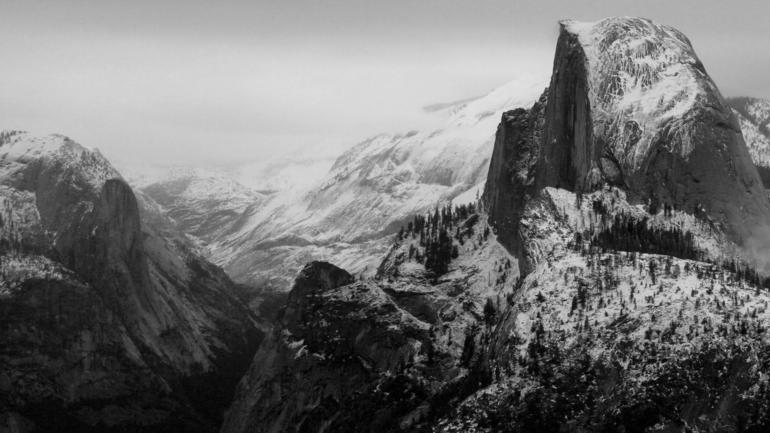 Half Dome in Winter - San Francisco