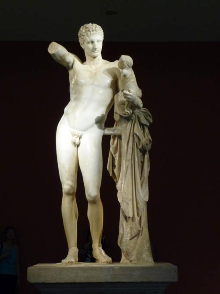 Hermes of Praxiteles at museum in Olympia - Athens