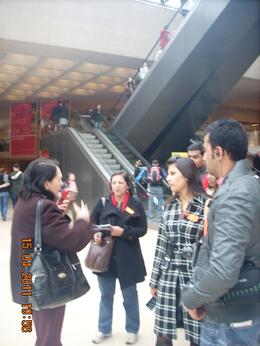 Our guide, Abha and other group members in rapt attention , Sanjeev Sharma - May 2011