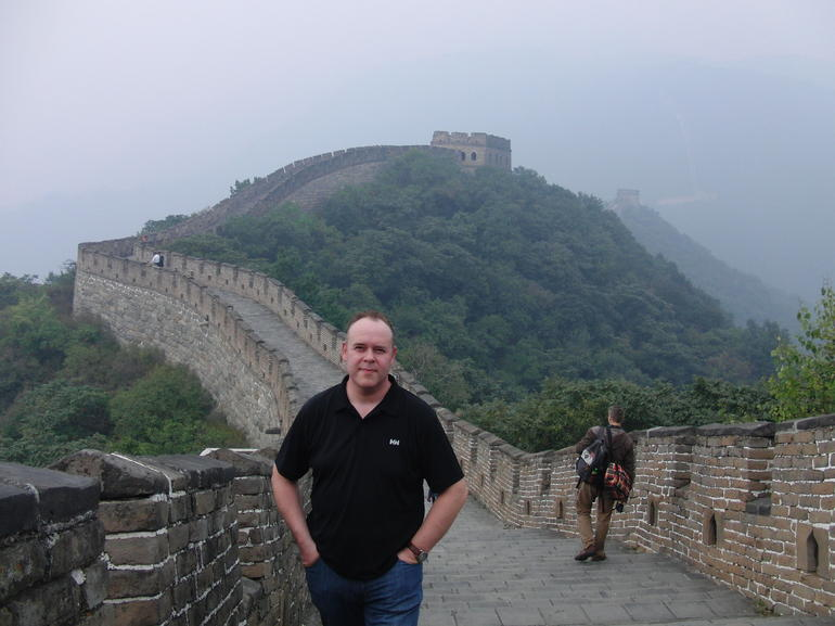 Me at the Chinese wall - Beijing