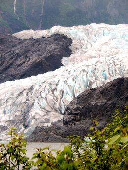 Mendenhall Glacier...definitely worth the walk through the trails to get a closer peek :) , Dawn B - June 2014