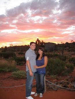 Photo of Ayers Rock Sounds of Silence Restaurant red sky...sunset at sounds of silence dinner