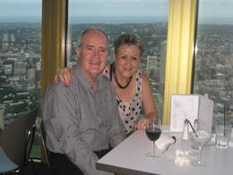 Me and my wife having dinner in the Tower , Edward S - March 2012