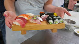 Photo of Tokyo Sushi Making and Tsukiji Fish Market Morning Tour from Tokyo the sushi I made!!!