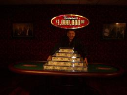 My husband Walter with one million dollars. , walternbarb - March 2012