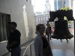 Sue at the Liberty Bell at the start of a wonderful day , Kevin H - October 2014