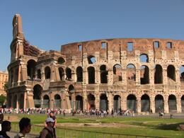 One of many views of the Colosseum showing the queue of people and relative sizes., Igor J - October 2007