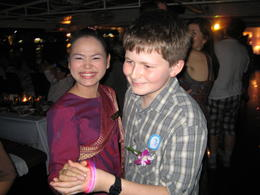 My son and one of the waitresses have a boogie , Andrew P - April 2012