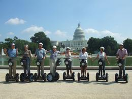 Posing on the Segways with the Capitol in the background - June 2010