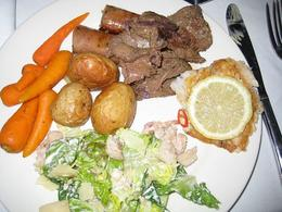 kangaroo meat with crocodile Caesar salad , BRENDA G - December 2010
